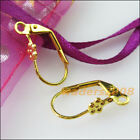 20 New Gold Dull Silver Bronze Plated Diy Flower Star French Earring Hook 9x17mm