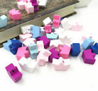 Mixed Crown Wooden Beads Spacer Beading Diy Jewelry Making Kids Toys 18x13mm