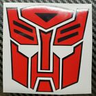 Transformers Optimus Prime Autobots Decal Sticker Gloss Red W Black Chrome