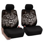 2pcs Printed Car Front Seat Covers Universal Fit Cute Auto Interior Accessories