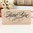 Vintage Thank You Wooden Rubber Stamp Craft Wedding Party 4 Styles To Choose Bh
