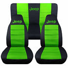1976-2020 Jeep Wrangler Two Tone Seat Covers Canvas Front Rear Choose Color