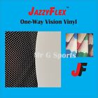 Jazzyflex - One-way Vision Vinyl From 4 Sq-ft And Up Free Ship From Usa