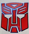 Transformers Optimus Prime Autobots Decal Sticker Gloss Red W Blue Chrome