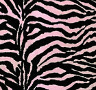 Zebra Print Poly Cotton Fabric 60 By The Yard 3 Color Safari Party Decoration