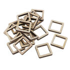 Unfinished Wood Hollow Square Shapes Wooden Pieces Diy Wood Craft Decoration