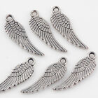 50100pc Silver Plated Angel Wing Charm Pendant Fits Necklace Jewelry Making Diy