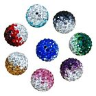 Usa 100pcs Mixed Micro Pave Disco Crystal Shamballa Beads Bracelet Spacer 10mm