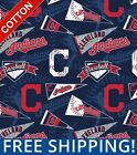 Cleveland Indians Mlb Cotton Fabric - Style 14415 - Free Shipping