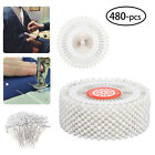 480-pieces Straight Pins W Pearlized Ball Head For Sewing Quilting Decoration