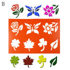 Butterfly Flower Layering Stencils Spray Template Diy Wall Drawing Card Decor Bh