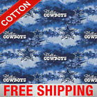 Dallas Cowboys Nfl Cotton Fabric - 60 Wide - Style 6352 - Free Shipping