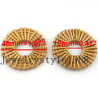 1pair2pcs Wood Square Drop Heart Diy Straw Weave Rattan Earring Jewelry Finding
