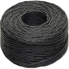 4-ply Waxed Linen Cord 0.5-0.8mm 40 Pound Test 50 Yard Spool Black Brown Natural