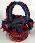 Hand Crochet Easter Baskets Gift Baskets Flower Pot Covers Amish Made New