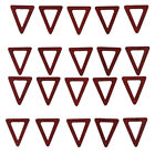 20pcs Wood Triangle Ring Pendants Charms For Jewelry Making Crafts Eardrops