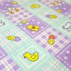 Baby Nursery Print Poly Cotton Fabric By The Yard 60 Baby Shower Gingham Patch