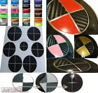 Carbon Fiber Black Pick 2nd Color Sticker Overlay Complete Set Fits Bmw Emblem