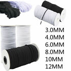 White Black Knit Elastic Band Woven For Dress Making Trousers Sewing Craft