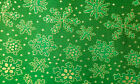 Holiday Fabric Brocade Snowflakes Christmas Shiny Decor Party Tela Navidad Photo