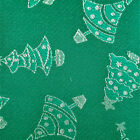Holiday Print Brocade Fabric Christmas Tree Jacquard Metallic Gold Silver Decor