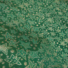 Star Print Brocade Fabric Jacquard Metallic Gold Silver Fairy Tale Holiday Party
