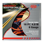 16ft Booster Cables 6 Gauge Heavy Duty Aaa Jumper Cables With Storage Case New