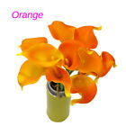 Lot Calla Lily Bridal Wedding Festival Decor Bouquet Real Touch Latex Flower