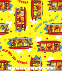 Daniel Tiger Trolley Friends Yellow Cotton Quilt Fabric Bty