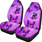 Butterfly Car Seat Covers For Women Thick Elastic Washable 2 Pcs Set Winter Warm