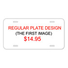 Custom Personalized License Plate Auto Tag With Cool Sharp Teeth Design