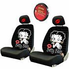 For Hyundai Betty Boop Car Truck Suv Seat Headrest Steering Wheel Covers New
