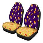 Purple Ice Cream Car Seat Covers 2 Pack Soft Washable Front Seat Protector Cover