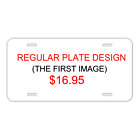Custom Personalized License Plate Auto Tag With Cool Vintage American Flag New