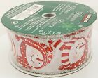 50 Yard Wired Christmas Ribbon Your Choice Kirkland- Members Mark 1.5 Or 2.5