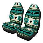 Universal Car Front Seat Covers Full Set Of 2pc For Women Native Horse Design