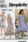 1993 Gypsy Summer Dress Sewing Pattern Size 6-16 Simplicity 8287 Oop