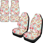 Universal Car Seat Covers Floor Mats Full Set Of 6 For Women Butterfly Printed