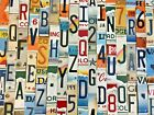 Worn Faded License Plate Letters And Numbers To Build Your Own Signs