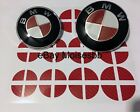 Emblem Overlay Vinyl Decal Sticker Complete Set For Bmw Carbon Fiber 7d 6d Color