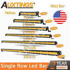 Amber Mini 7 13 20 253238 Slim Led Work Light Fog Bar Single Row Bar