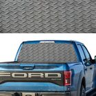 1x Rear Window Graphic Decal Tint Metal Texture