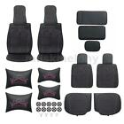 13pcs Luxury Car Seat Cover 5 Seats Pu Leather Suv Cushion Frontrear Setpillow