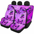 Butterfly Design Womens Car Accessories Seat Covers Front Rear Full Set