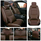 Luxury Car Seat Covers Top Pu Leather Suv 5-sits Front Rear Full Set Universal