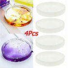 4pcs Coaster Mold Round Silicone Resin Casting Jewelry Making Mould Tool Kit Us