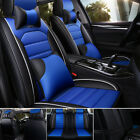 Luxury Leather Universal Car 5 Seat Cover Full Set Front Rear Cushion Protector