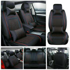 Luxury Pu Leather Car Seat Covers Frontrear Set 5-seats Universal Car Suv Truck