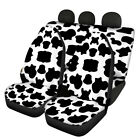 Auto Seat Covers Cow Pattern Print Car Protect Front Rear Covers Universal 4 Pcs