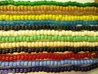 Glass Crow Beads 9 Mm  All Colors  You Choose 100 Per Strand